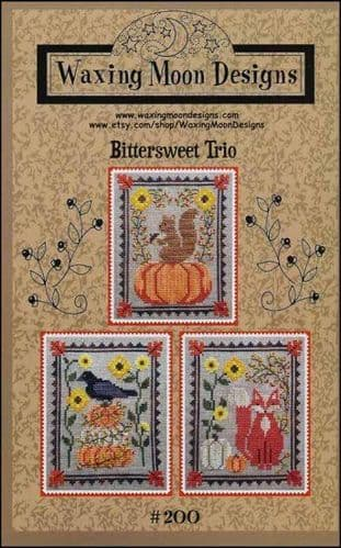 Bittersweet Trio by Waxing Moon Designs printed cross stitch chart