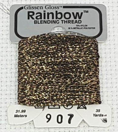 Black Gold GlissenGloss Rainbow Thread 252 / R907