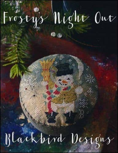 Blackbird Designs Frosty's Night Out cross stitch chart