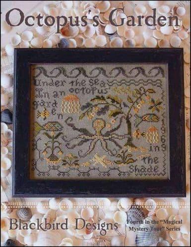 Blackbird Designs Octopus's Garden cross stitch chart