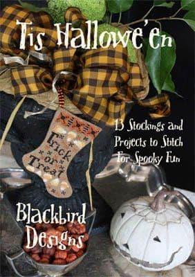 Blackbird Designs Tis Halloween cross stitch chart