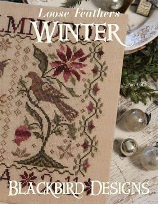 Blackbird Designs Winter - Loose Feathers Series Cross Stitch chart