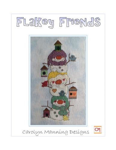 Carolyn Manning Designs Birdy Bed and Breakfast - Flakey Friends printed cross stitch chart