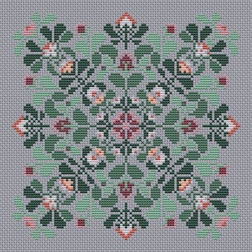 Carolyn Manning Designs Calliope (Bohemian Bouquet Collection) printed cross stitch chart