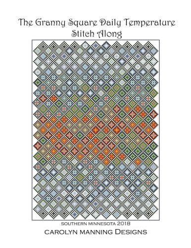 Carolyn Manning Designs Granny's Daily Temperature Stitch Along printed cross stitch chart
