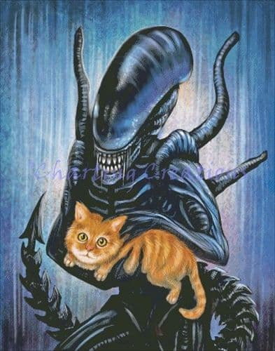 Charting Creations Alien printed cross stitch chart