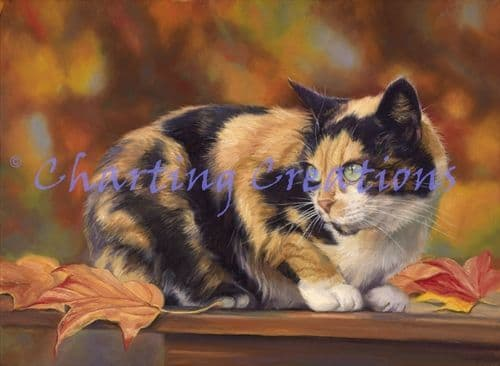 Charting Creations Calico in the Fall printed cross stitch chart