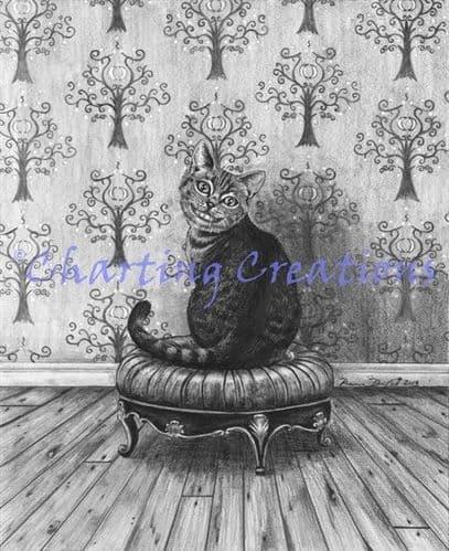 Charting Creations Cheshire Cat printed cross stitch chart