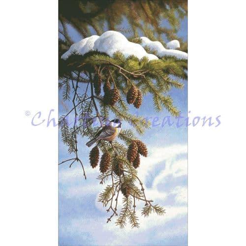 Charting Creations Chickadee printed cross stitch chart chart