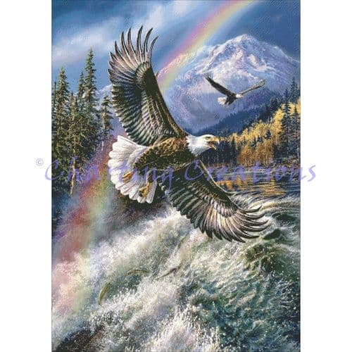 Charting Creations Covenant Eagle printed cross stitch chart