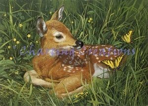 Charting Creations Fawn printed cross stitch chart