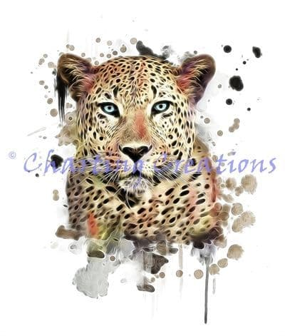 Charting Creations Fractal Leopard printed cross stitch chart