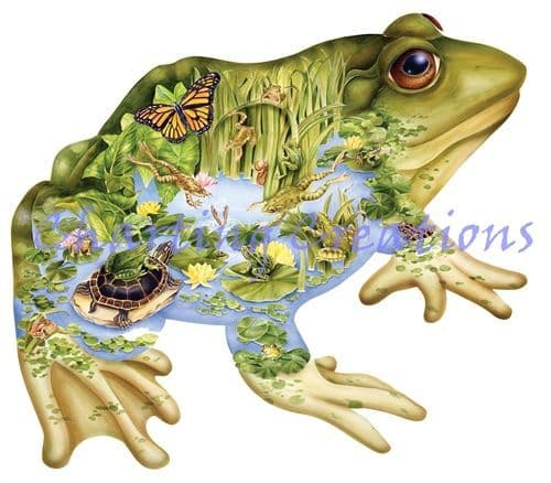 Charting Creations Frog Pond printed cross stitch chart