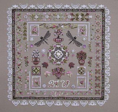 Chatelaine Rose Lights cross stitch chart