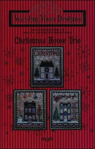 Christmas House Trio by Waxing Moon Designs printed cross stitch chart