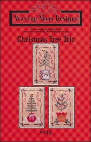 Christmas Tree Trio by Waxing Moon Designs printed cross stitch chart