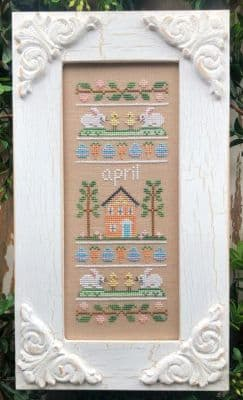 Country Cottage Needleworks April Sampler of the Month cross stitch chart