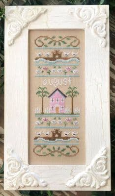 Country Cottage Needleworks August Sampler of the Month cross stitch chart