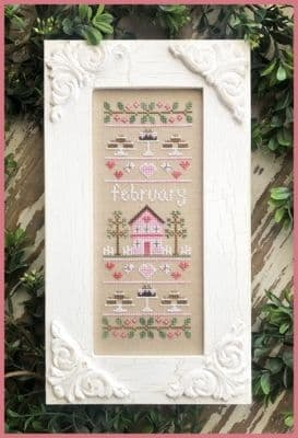 Country Cottage Needleworks February Sampler of the Month cross stitch chart
