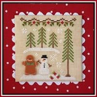 Country Cottage Needleworks Gingerbread Girl and Peppermint Tree cross stitch chart