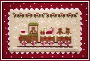 Country Cottage Needleworks Gingerbread Train cross stitch chart