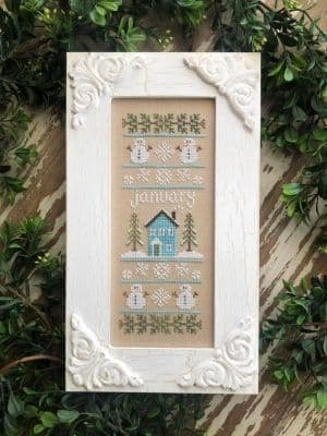 Country Cottage Needleworks January Sampler of the Month cross stitch chart