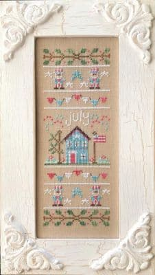 Country Cottage Needleworks July Sampler of the Month cross stitch chart