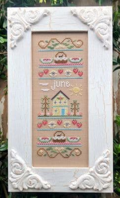 Country Cottage Needleworks June Sampler of the Month cross stitch chart