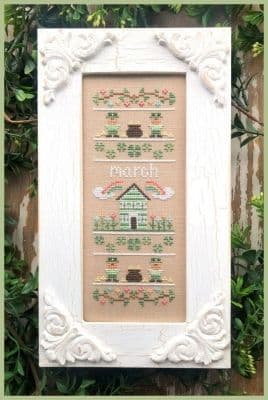 Country Cottage Needleworks March Sampler of the Month cross stitch chart