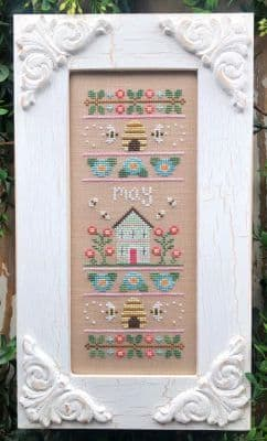 Country Cottage Needleworks May Sampler of the Month cross stitch chart