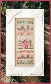 Country Cottage Needleworks September Sampler of the Month cross stitch chart
