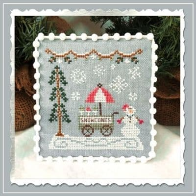 Country Cottage Needleworks Snow Cone Cart - Snow Village cross stitch chart