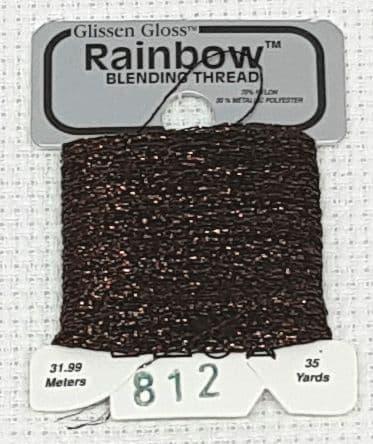 Dark Brown GlissenGloss Rainbow Thread 30 / R812