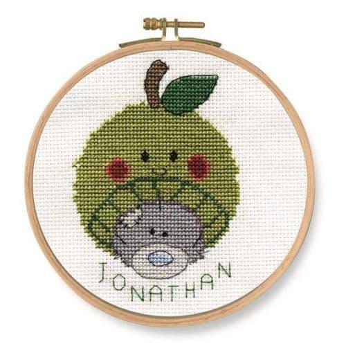 DMC My Dinky Bear Me to You Apple cross stitch kit