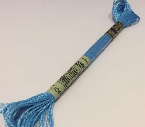 E1040 - DMC Light Effect Fluorescent Electric Blue Metallic Thread