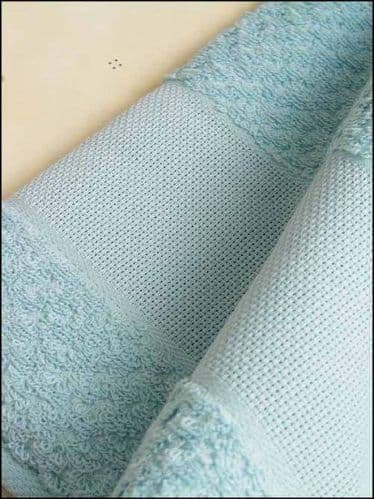Fingertip Towel for cross stitch  - Sea Blue