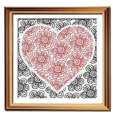 Flowers of Love by Peacock & Fig printed cross stitch chart