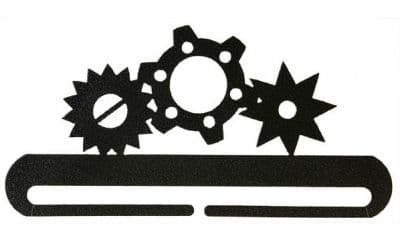 "Gears 8"" Charcoal Metal Bellpull"
