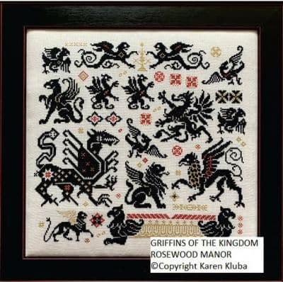 Griffins of the Kingdom Rosewood Manor cross stitch booklet