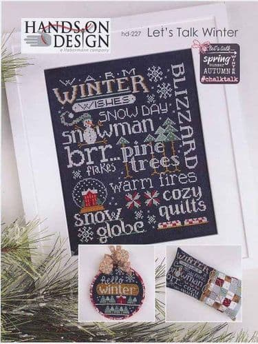 Hands on Design Chalk Talk - Let's Talk Winter cross stitch chart
