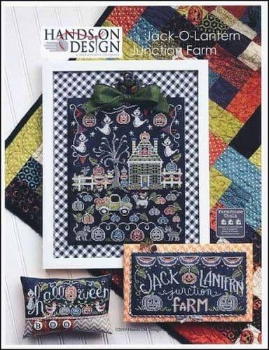 Hands on Design Jack-O-Lantern Junction Farm cross stitch chart