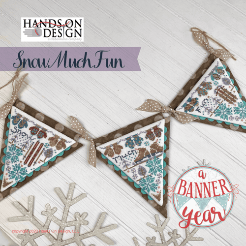 Hands on Design Snow Much Fun - A Banner Year Series cross stitch chart