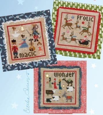 Heart in Hand Christmas Square Dance 4 - Magic, Wonder, Frolic cross stitch chart