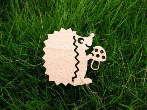Hedgehog Toadstool wooden Needle Minder