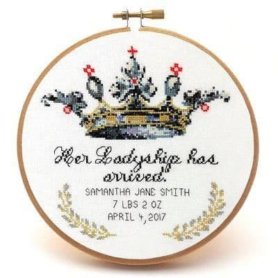 Her Ladyship by Peacock & Fig printed cross stitch chart