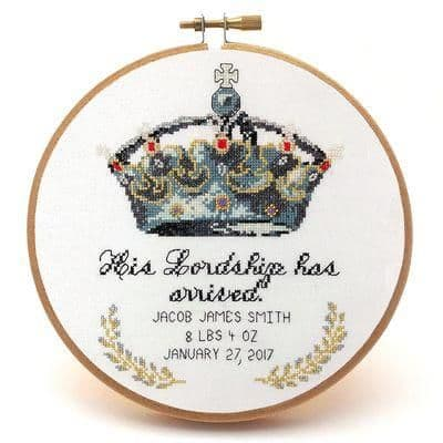 His Lordship by Peacock & Fig printed cross stitch chart