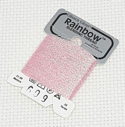 Iridescent Pale Pink GlissenGloss Rainbow Thread 302 / R609