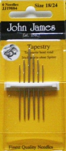 John James Tapestry PK 6 needles - sizes 18/24