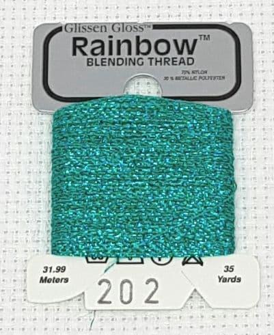 Light Teal Green GlissenGloss Rainbow Thread 65 / R202