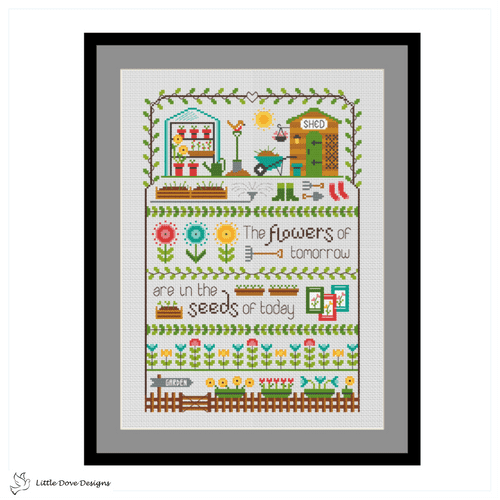Little Dove Designs The Flowers of Tomorrow printed cross stitch chart